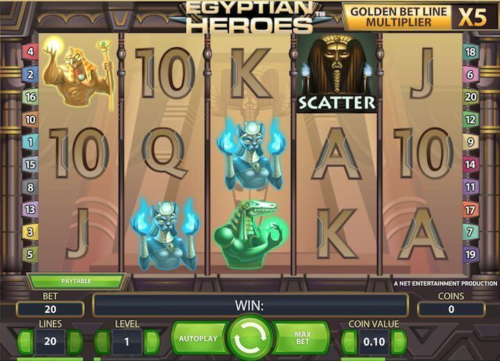Ancient Treasures in Egyptian Heroes Slot